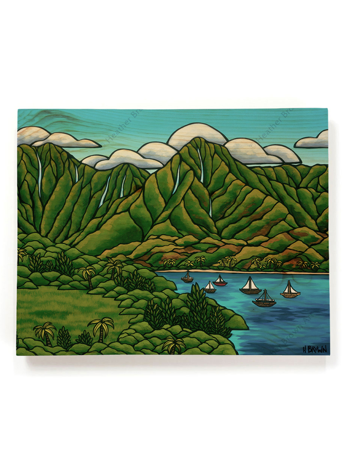 Sailboats in Hanalei