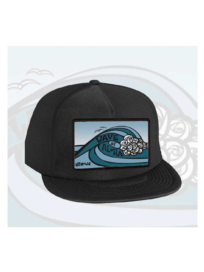 Wave of Aloha Patch Trucker Hat