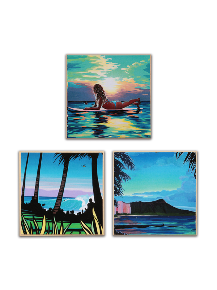 SURF ANGEL/FROM THE POINT/DIAMOND HEAD SUNSET